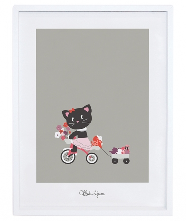 Cadre enfant chat tricycle fille