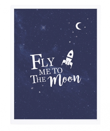 décoration affiche encadrée fly me to the moon