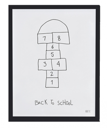 AFFICHE + CADRE (30x40cm) - BACK TO SCHOOL
