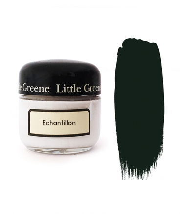 Peinture Little Greene échantillon Obsidian Green