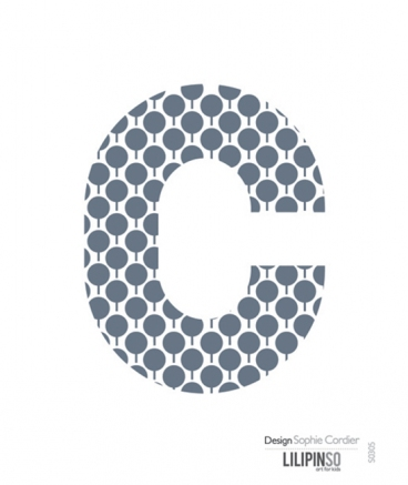 "Stickers lettre A pois - ""C"""