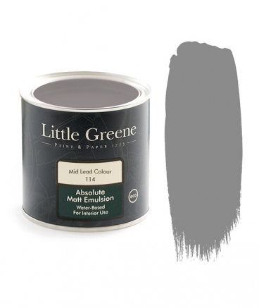 Little Greene Absolute Matt Emulsion Mid Lead Color 114