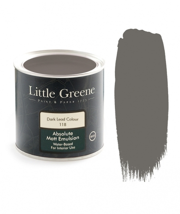 Little Greene Absolute Matt Emulsion Dark Lead Colour 118