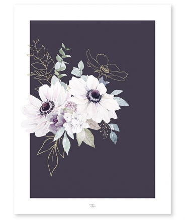 poster deco fleurs lilipinso