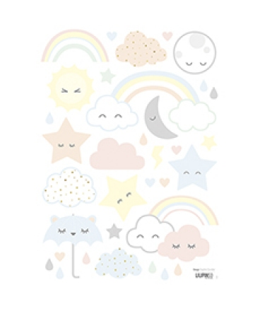 Stickers mix nuages