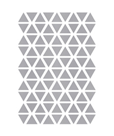 Stickers triangle coloris argent