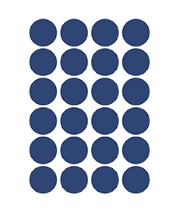 Stickers ronds coloris navy