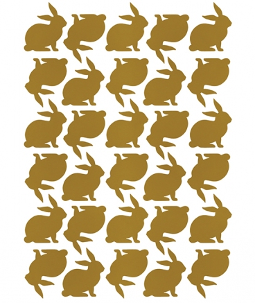 Stickers lapin coloris or