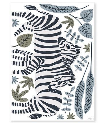 Stickers geant zebre