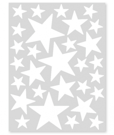stickers etoiles  blanches