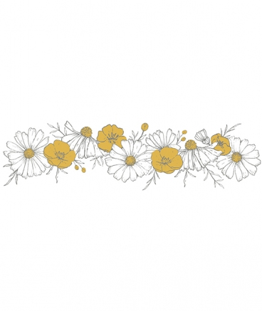 stickers fleurs marguerittes chambre decoration lilipinso