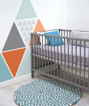 planche de stickers a2 chambre d 39 enfant et b b triangles xl grey. Black Bedroom Furniture Sets. Home Design Ideas