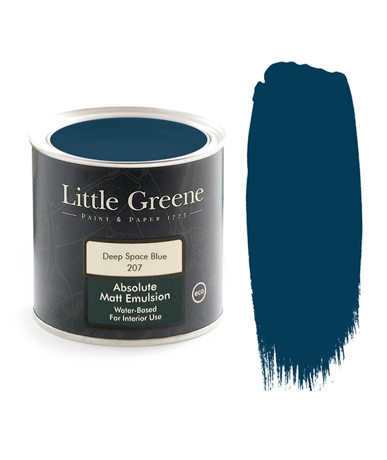 peinture little greene deep space blue 207 d coration lilipinso. Black Bedroom Furniture Sets. Home Design Ideas