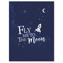 Affiche déco espace Fly me to the moon