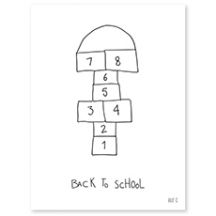 AFFICHE ( 30x40cm) - BACK TO SCHOOL