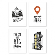 Set de 4 cartes décorative Travel