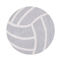 Tapis ronds ballon volley gris