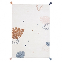 Tapis rectangle feuilles monstera