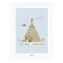 Affiche et cadre indian teepee