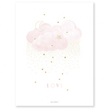 Affiche enfant love rose