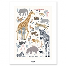 Poster enfant animaux de la jungle
