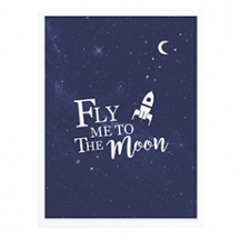 Affiche encadrée Fly me to the moon