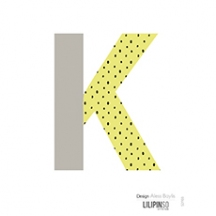 "Sticker alphabet ""HAPPY"" lettre K jaune etgris"