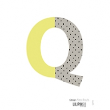 "Sticker alphabet ""HAPPY"" lettre Q jaune"