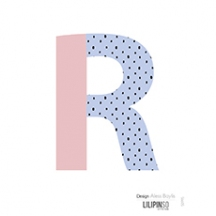 "Sticker alphabet ""HAPPY"" lettre R rose et bleu"