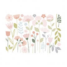 Stickers xl fleurs tiges
