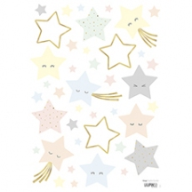 Stickers etoiles rieuses pastels