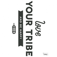 "Stickers ""love your tribe"""
