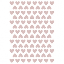 Stickers coeurs coloris dusty pink
