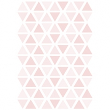 Stickers triangle coloris sweet pink