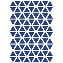 Stickers triangle coloris navy