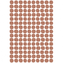 Stickers pois coloris terracotta
