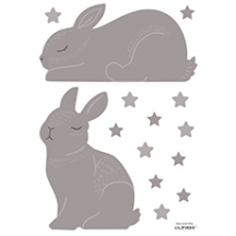 Stickers lapins coloris taupe