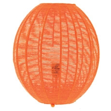 Lampe fil oval orange