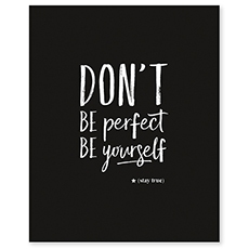 chambre enfant affiche don't be perfect
