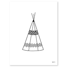 AFFICHE ( 30x40cm) - TEEPEE