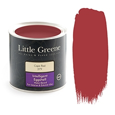 Peinture satiné rouge - Little Greene - Cape Red