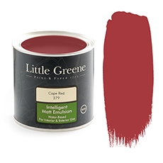 Peinture mate rouge - Little Greene - Cape Red
