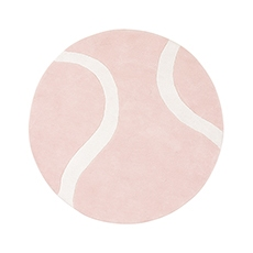 Tapis ronds balle de tennis rose