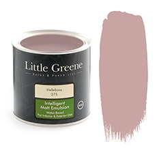 Peinture Little Greene rose Hellebore
