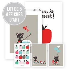 Lot affiches décoratives