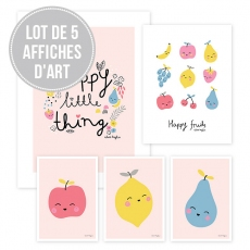 Affiches enfant fruits