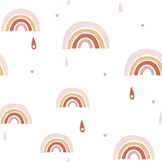 papier peint rose fille rainbow deco lilipinso