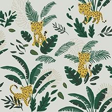 papier peint tropical jungle lilipinso