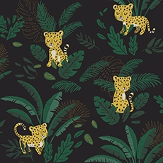 papier peint jungle leopard lilipinso
