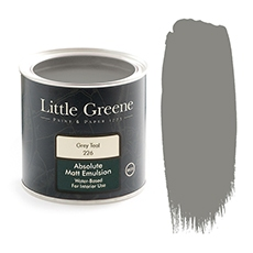 Little Greene Absolute Matt Emulsion Grey Teal 226